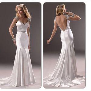 Maggie Sottero IVY gatsby Satin Wedding Dress